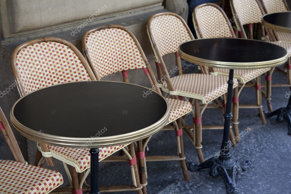 Cafe Tables Paris Stock Photo Kevers - Paris cafe table