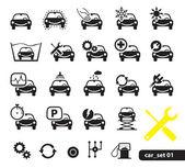 Fotografia le icone di servizio auto, impostare
