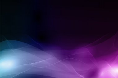 Abstract dark background with soft wavy pattern in shades of blue and purpl
