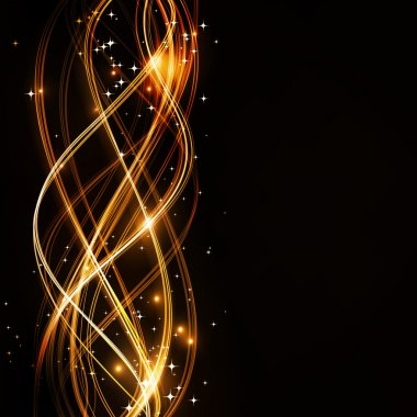 Abstract wavy pattern with stars