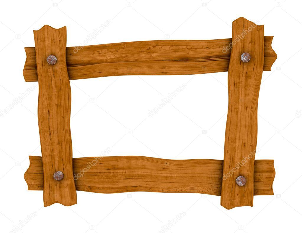 Wooden board frame