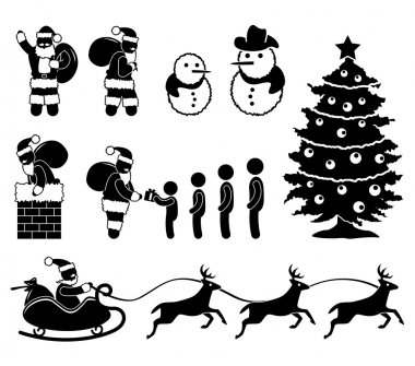 Christmas Santa Claus Snowman Winter Chimney Reindeer