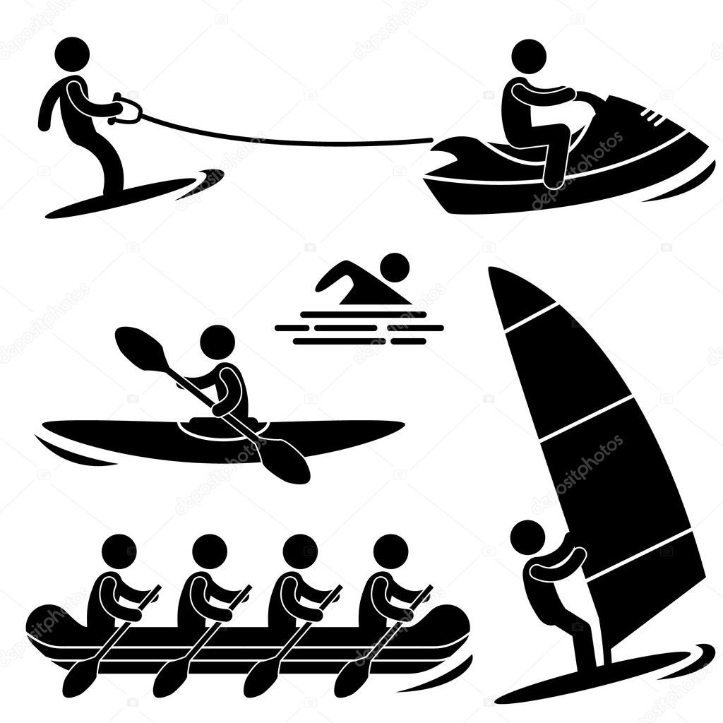 Imágenes Remo Deporte Dibujo Agua Mar Deporte Skurfing Remo