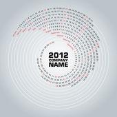 Fotografie Swirl calendar 2012