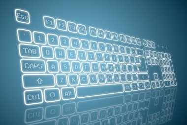 Virtual keyboard in perspective