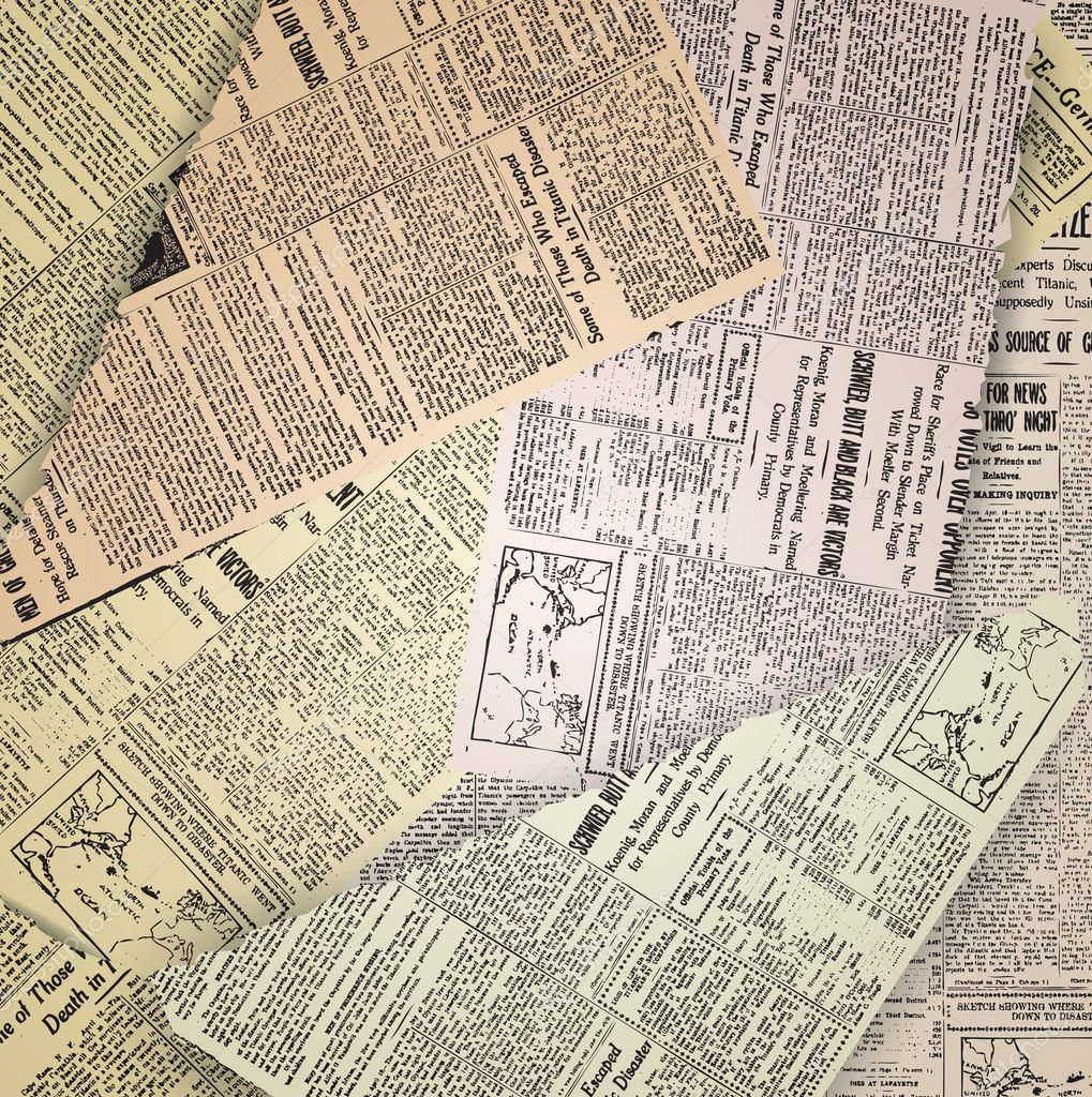 Old newspaper background — Stock Vector © Razvodovska #6841792