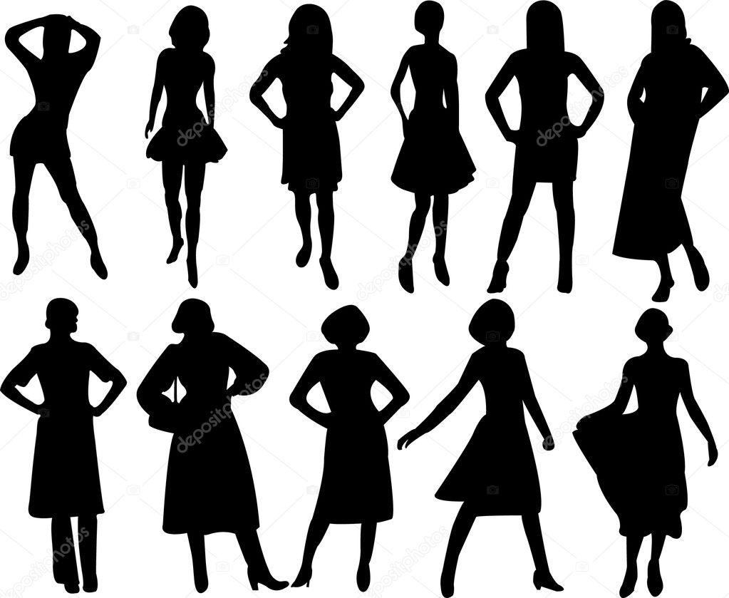 Women Silhouettes Stock Vector Paunovic 7922824