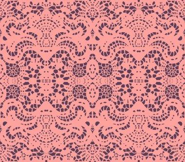 Pink lace doily
