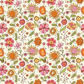 Fotografie vzorek s kreslené květy