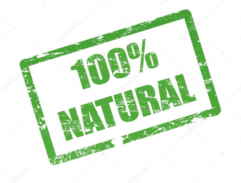 100 % natural stamp