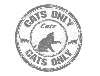 Cats only stamp