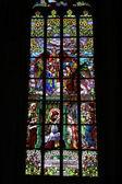 Kirchenfenster in der Kirche der Heiligen Barbara, Tschechische Republik,