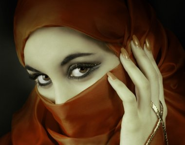 Portrait of a arabian beautiful woman
