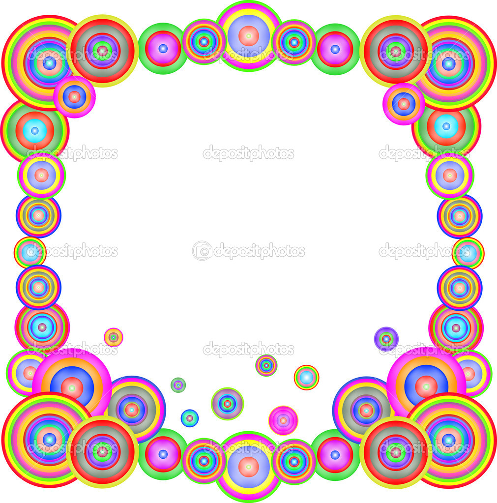 Abstract colorful rainbow frame. Vector illustration — Stock Vector ...