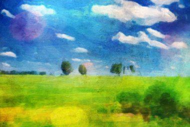Oil picture a summer landscape