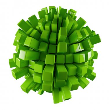 Green 3D abstraction