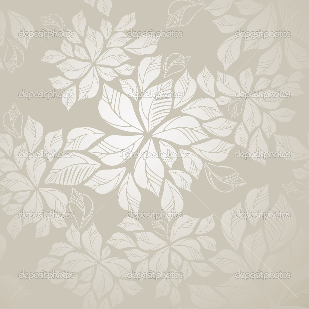 Seamless silver leaves wallpaper stock vector lina s for Papel de pared plata