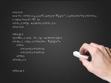 Html code on blackboard