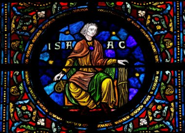 Isaac on Stained Glass window