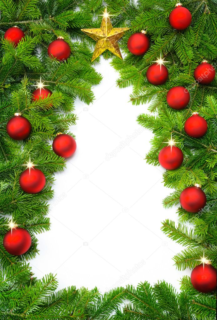 Creative Christmas tree border — Stock Photo © Smileus ...