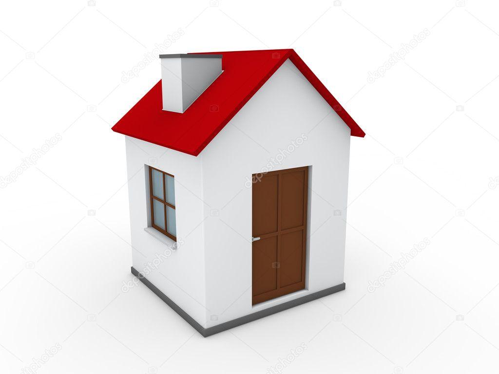 Superb 3d Haus Zuhause Rot Immobilienverkauf Echtzeit U2014 Foto Von Dariusl