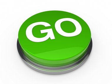 3d button go green