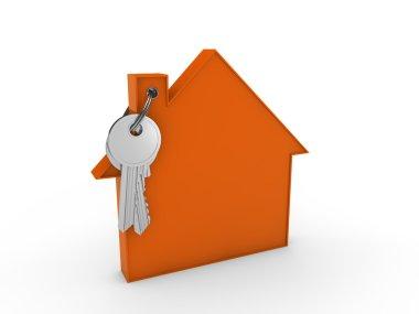 3d house key orange