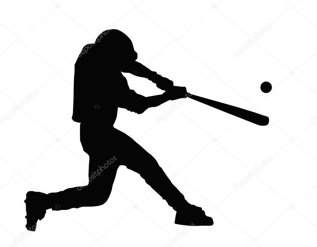 baseball batter hitting ball stock vector cd123 7505075 rh depositphotos com free vector baseball batter Baseball Player Batter Clip Art