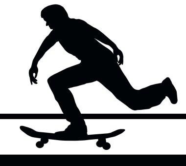 Skateboarding Building Up Speed