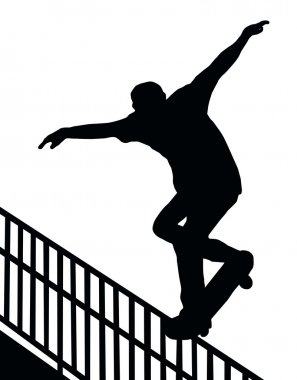 Skateboarding Nosegrind Rail Slide