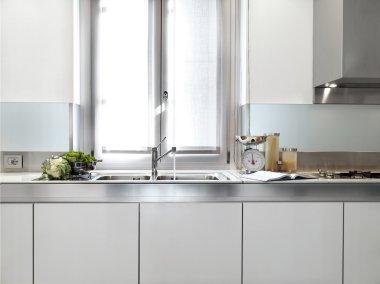 Detail of sink on the modern kitchen