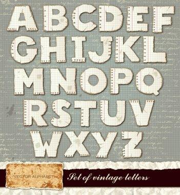 Vector detailed alphabet