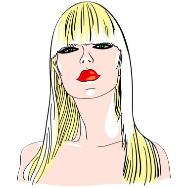 Vector blond girl