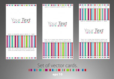 Set of cards.