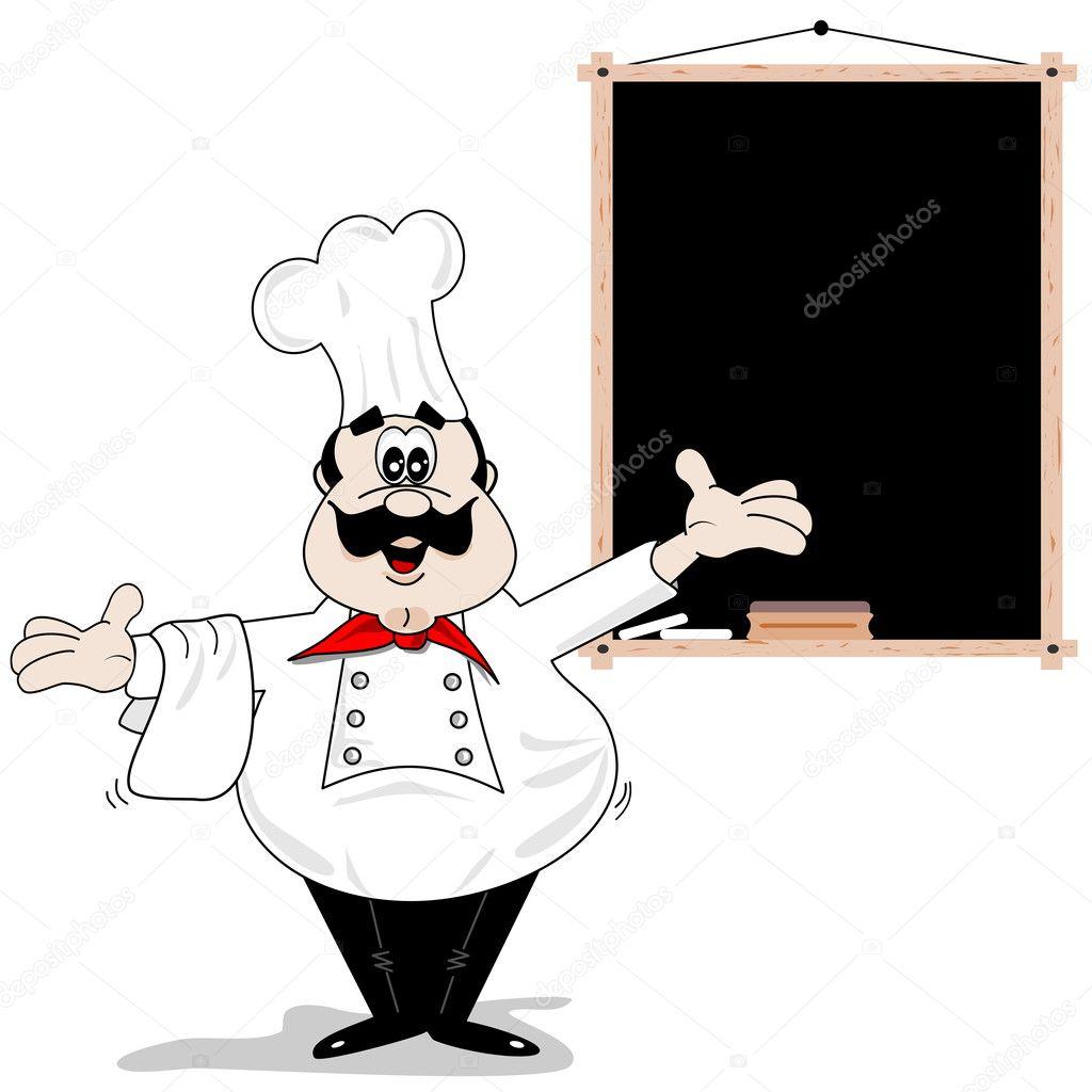 Chef cuisinier de dessin anim image vectorielle gcpics - Chef cuisinier dessin ...