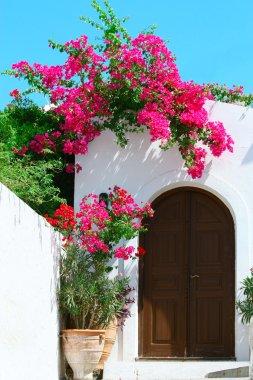 Door in Lindos - island Rhodes, Greece
