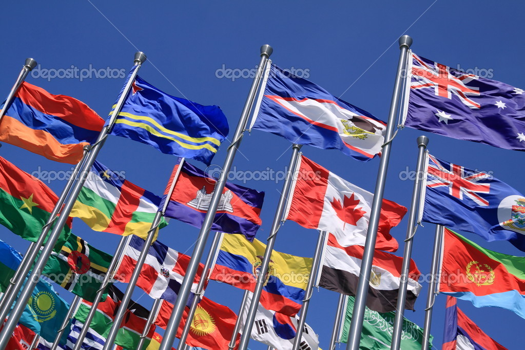 Canada and British Commonwealth and national flags all over the world