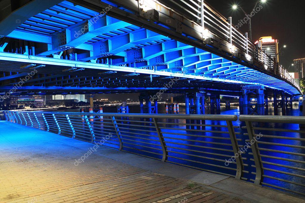 Blue lighting Bridge