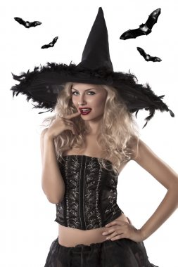 Sexy portrait of a beautiful witch