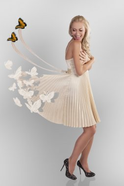 Woman and butterflys
