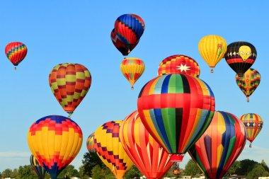 Colorful hot air balloons stock vector