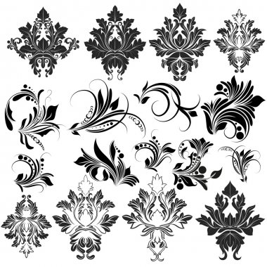Organic Damask Swirl Elements