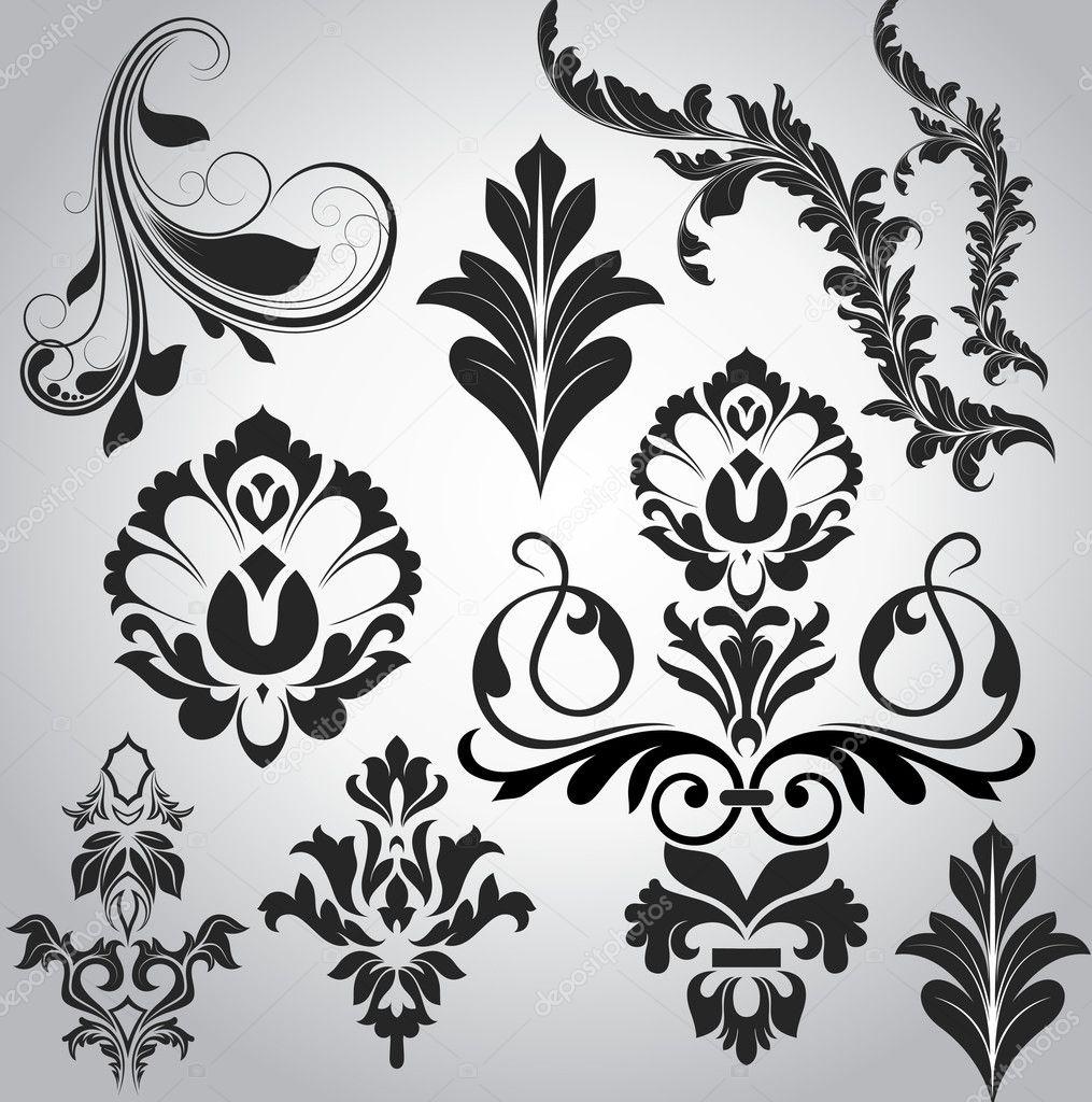 Festiv Swirl Floral Elements