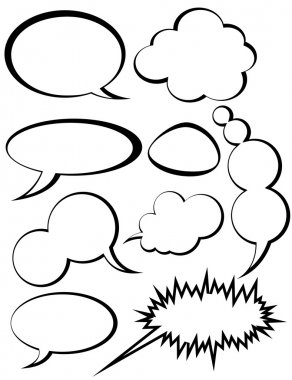 Black n White Speech Bubbles