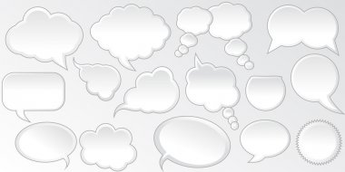 Collection Of Isolated Speech Bubbles