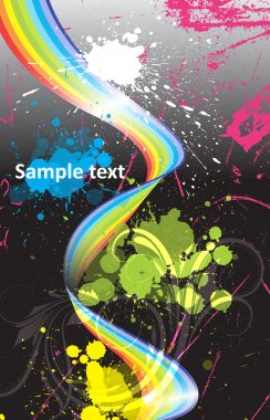 Colorful Spring Element with Paint Splashes