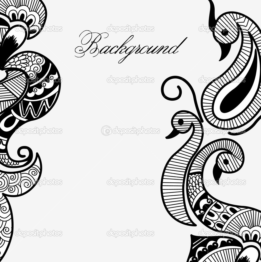 antique henna designs stock vector baavli 7244292 rh depositphotos com indian henna designs vector