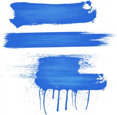 Blue Color Brush Strokes