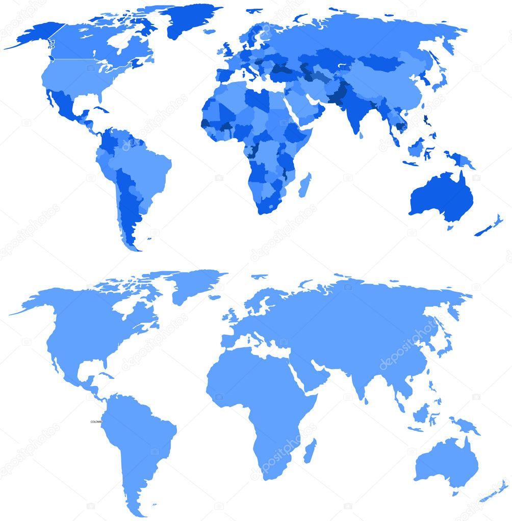 Conceptual World Map Design Stock Vector baavli 7356674