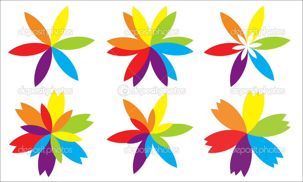 Different Type Of Paper Flowers Stock Vector Baavli 7401674